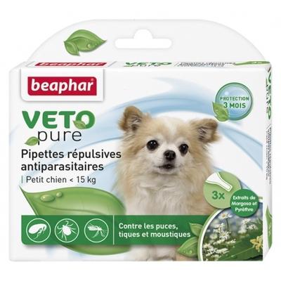 Pipettes répulsives VETOpure antiparasitaires petit chien  <15kg)