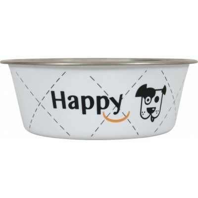 "Ecuelle Inox ""Happy"" - Blanc"