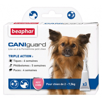Beaphar Caniguard - pipettes antiparasitaires - petit chien (2-7,5kg)