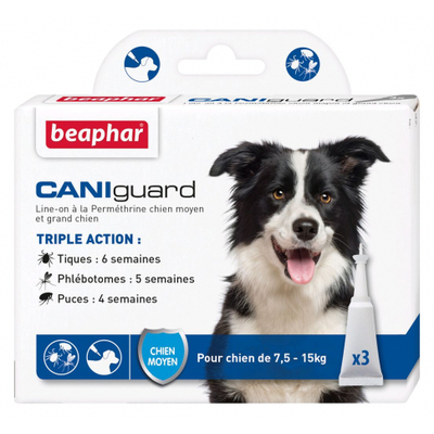 CANIguard - Pipettes antiparasitaires - chiens moyens (7,5-15 kg)
