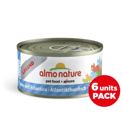Almo Nature - Legend - Thon de l'Atlantique - Pack 6 boites x 70g