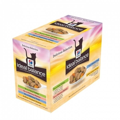 Hill's Ideal Balance - Chat Adult Multipack - 12 Sachets 85g