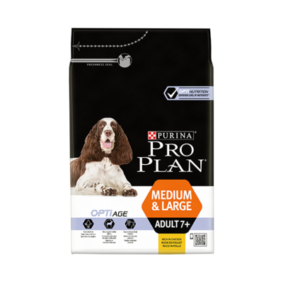 Purina Proplan - Adult 7+ - Medium et Large - Poulet