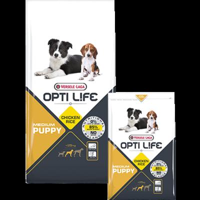 OPTI LIFE - Puppy Medium - Poulet et Riz