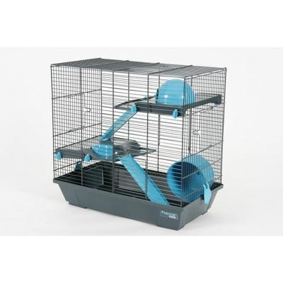 Cage Indoor Duplex Hamster 50 Bleu