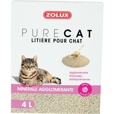 Zolux-Litière Pure Cat - Minérale Agglomérante 4L