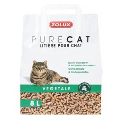 Litiere Pure Cat - Végétale Naturelle - 8L