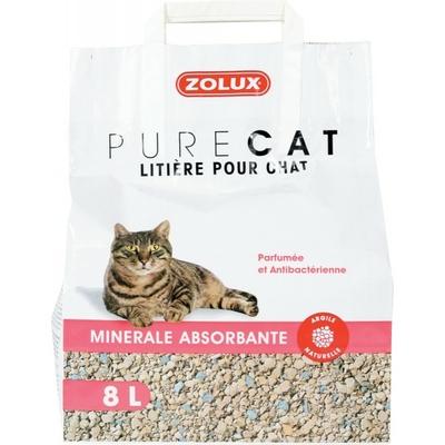 Zolux-Litière Pure Cat - Minérale Absorbante - 8L