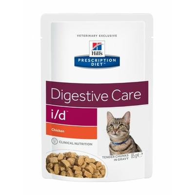 Hill's Prescription Sachets Feline i/d Poulet - 12 Sachets 85gr