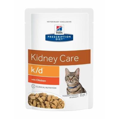 Hill's Prescription Diet k/d Feline au Poulet - 12 Sachets 85gr