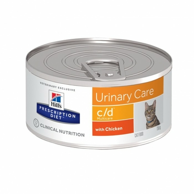 HILL'S Prescription Diet Feline c/d Multicare - Poulet - 24 Boites 156g