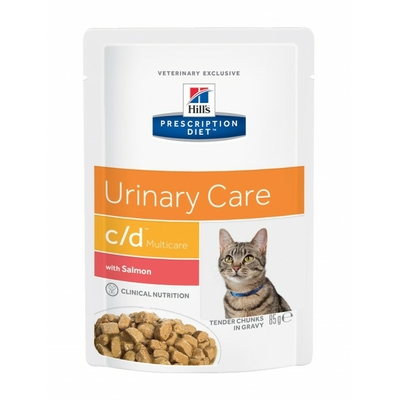HILL'S Prescription Diet Feline c/d Multicare - Saumon - 12 Sachets 85gr