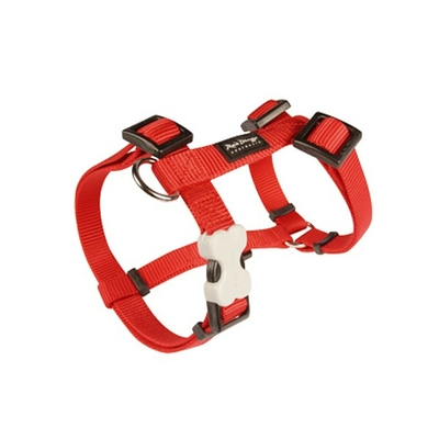 Harnais réglable Red Dingo Basic rouge