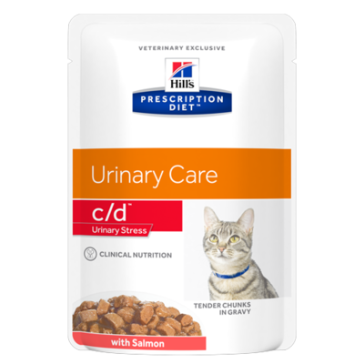 HILL'S Prescription Diet Feline c/d Urinary Stress Saumon - 12 sachets 85g
