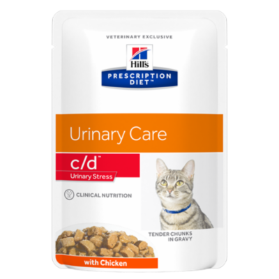 HILL'S Prescription Diet Feline c/d Urinary Stress Poulet - 12 sachets 85g