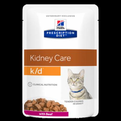 Hill's Prescription Diet k/d Feline au Boeuf - 12 Sachets 85gr