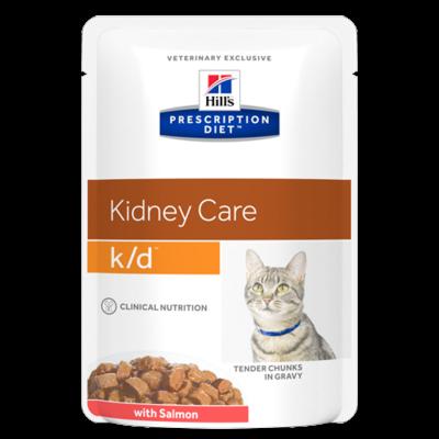 Hill's Prescription Diet k/d Feline au Saumon - 12 Sachets 85gr
