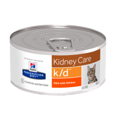 Hill's Prescription Diet k/d Feline au Poulet - 24 Boites 156gr