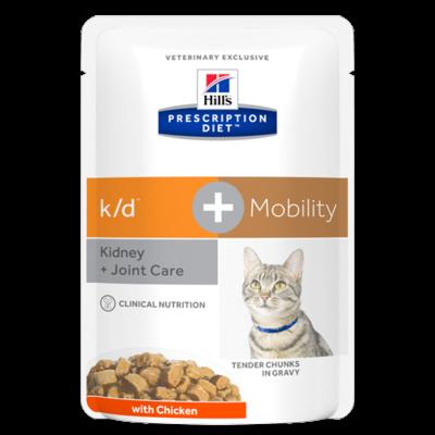 Hill's Prescription Diet - k/d - Mobility Feline au Poulet - 12 Sachets 85gr