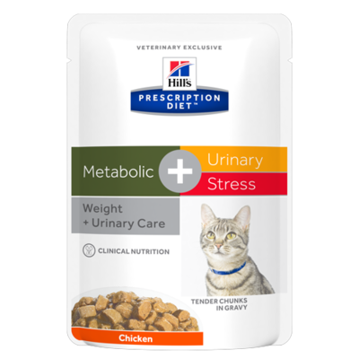 HILL'S Prescription Diet Feline Metabolic + Urinary Stress - 12 Sachet 85g