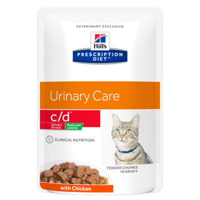 HILL'S Prescription Diet Feline C/D Urinary Stress Reduced Calorie - 12 Sachets 85g