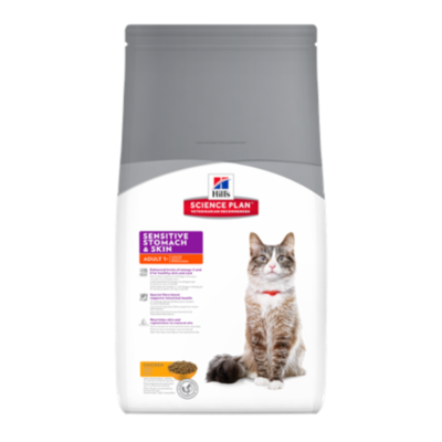 Hill's Science Plan - Feline Adult Sensitive Stomach & Skin - Poulet