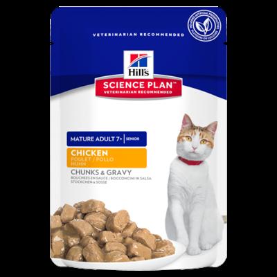 Hill's Science Plan Feline Mature Adult 7+ Poulet - 12 Sachets 85g