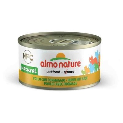 Almo Nature - Pâtée en Boîte HFC Natural Poulet avec Fromage pour Chat - 70g