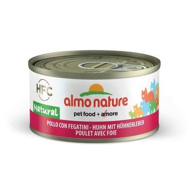 Almo Nature - Pâtée en Boîte HFC Natural Poulet avec Foie pour Chat - 70g