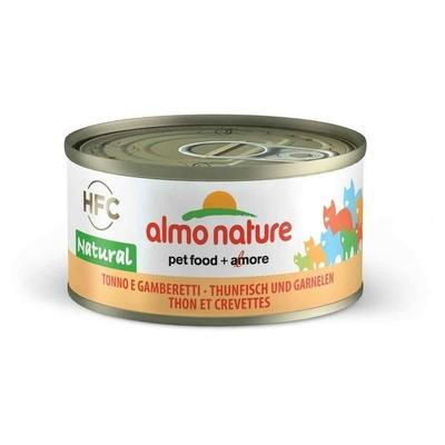 Almo Nature - Pâtée en Boîte HFC Natural Thon et Crevettes pour Chat - 70g