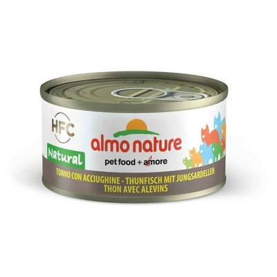 Almo Nature - Pâtée en Boîte HFC Natural Thon avec Alevins pour Chat - 70g