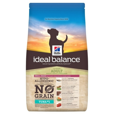 Hill's Ideal Balance - Chien Adult Small Breed - No Grain - Thon - 2kg