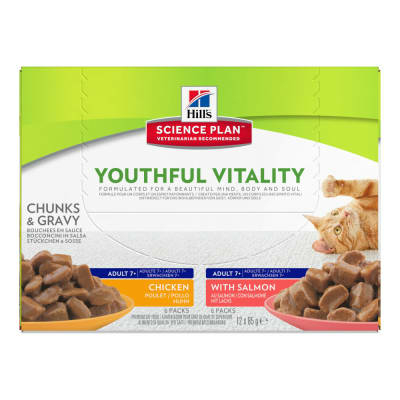 Hill's Feline Youthful Vitality Multipack - 12 Sachets de 85g