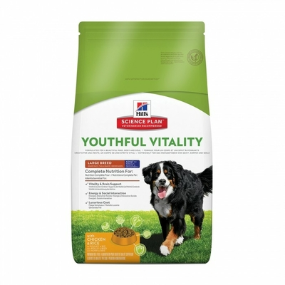 Hills Science Plan -Chien Adult-5+ - Youthful Vitality - Large breed - Poulet et riz - 10kg