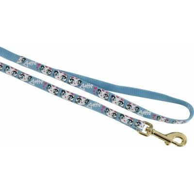 Laisse nylon Zolux - ladycat bleu