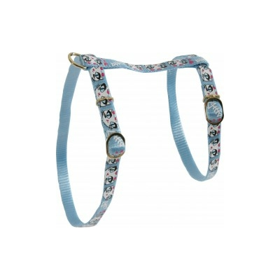 Harnais nylon Zolux - Ladycat 10mm bleu