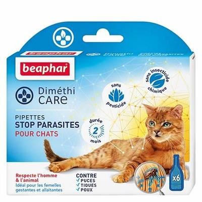 Diméthi Care - Pipettes stop parasites pour chats