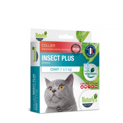Naturly's Octave - Collier Insect Plus - Anti parasitaire -  Chat