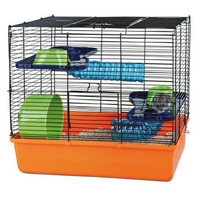 Cage avec équipement de base