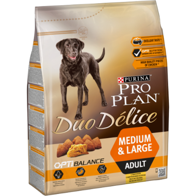Purina Duo Délice - Adult Medium & Large -Poulet - 10kg