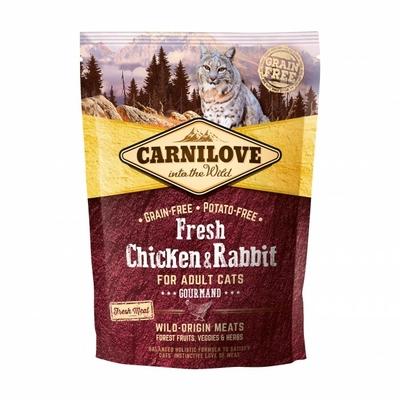 Croquettes Carnilove Fresh pour Chat au Poulet et Lapin