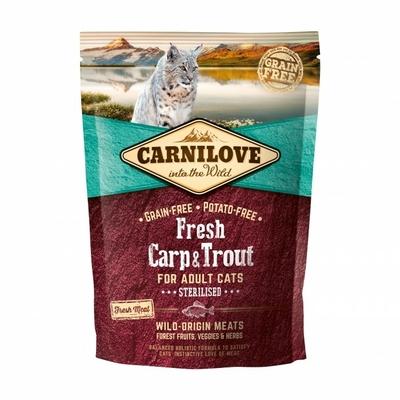 Croquettes Carnilove Fresh pour chat Stérilisé - Carpe et truite