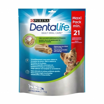 Purina Dentalife - Pour chien de très petite taille - 21 batonnets