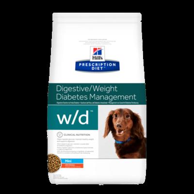 HILL'S Prescription Diet Canine w/d Mini Poulet - 1,5kg