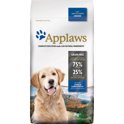 APPLAWS Sans Céréales - Chien Light - Poulet - 7,5kg