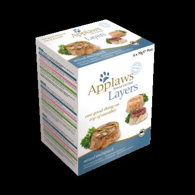 Applaws Layer Multipack 3 saveurs - 6 Pots 70g