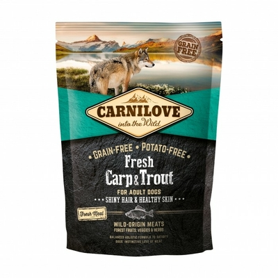 Croquettes Carnilove Fresh Chien Adult Carpe & Truite