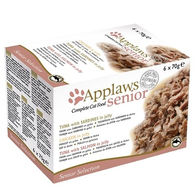 Applaws Chat Senior en gelée Multi Pack 6 x 70 gr