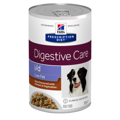 Hills Prescription Diet i/d Low Fat Canine au Poulet - 12 Boites 360g