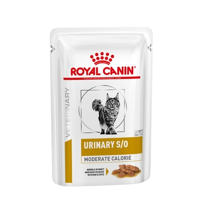 ROYAL CANIN Veterinary Diet - Urinary S/O Moderate Calorie - 12 Sachets de 85g